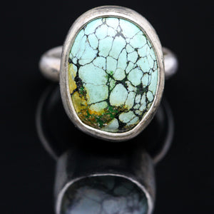 Turquoise and Sterling Ring- Size 5.5