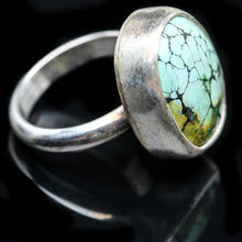 Load image into Gallery viewer, Turquoise and Sterling Ring- Size 5.5