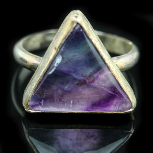 Fluorite and Sterling Ring- Size 5