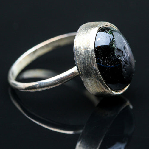 Black Star Diopside Ring- Size 8