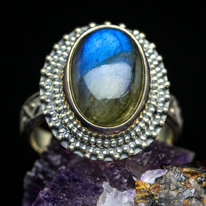 Labradorite and Sterling Ring- Size 6.5