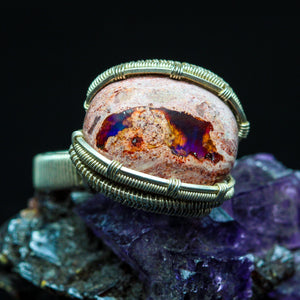 Mexican Fire Opal Ring- Size 7