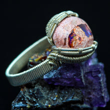 Load image into Gallery viewer, Mexican Fire Opal Ring- Size 7