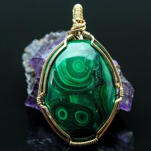 Malachite In Gold