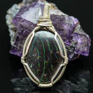 Earth Beauty: Boulder Opal Necklace