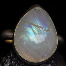 Load image into Gallery viewer, Love: Rainbow Moonstone Ring