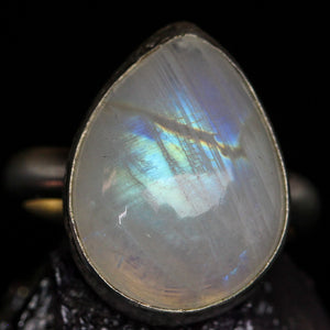 Love: Rainbow Moonstone Ring