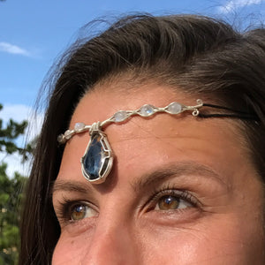 Pietersite and Rainbow Moonstone Crown