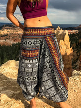 Load image into Gallery viewer, Handmade Harem Pants - Black on White