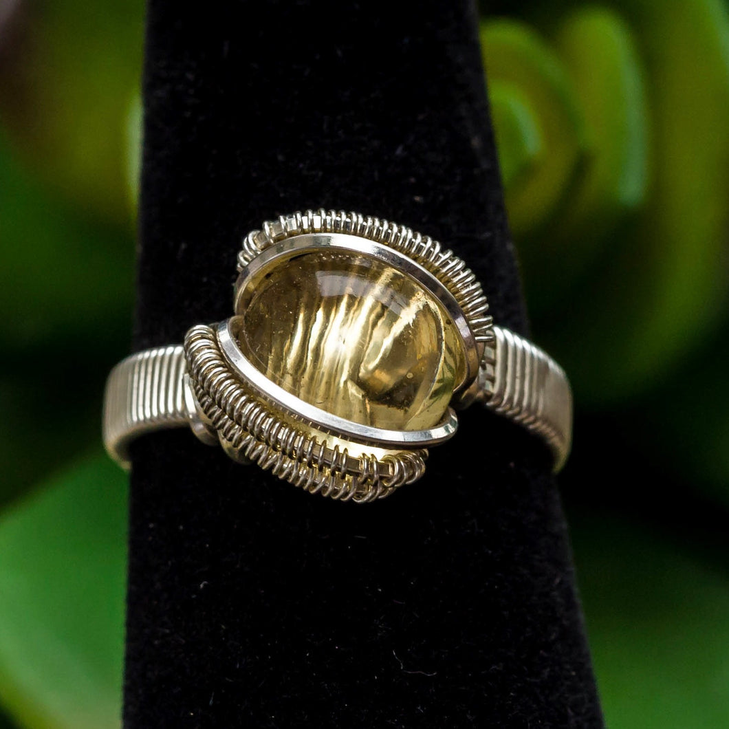 Size 6 Citrine Ring