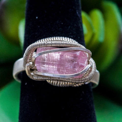 Size 7 Pink Tourmaline Ring