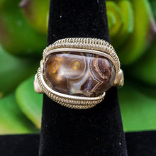 Load image into Gallery viewer, Size 7.5 Fire Agate Ring