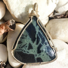 Load image into Gallery viewer, Spiderweb Obsidian Pendant