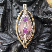 Load image into Gallery viewer, Rose Quartz and Amethyst Talisman