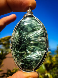 Angel Wings: Seraphinite Pendant