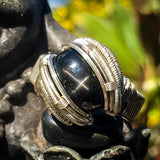 Size 10 Black Start Diopside Ring