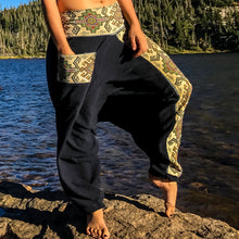 Load image into Gallery viewer, Handmade Harem Pants - Ninja Style Black