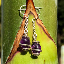 Load image into Gallery viewer, Amethyst Earrings (Small)