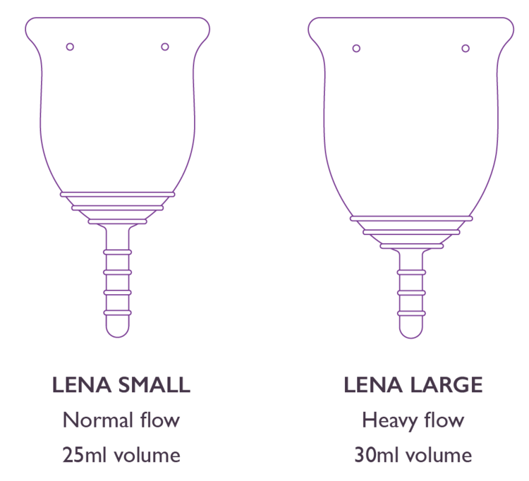 LENA Cup, sizing | My Fertility NZ