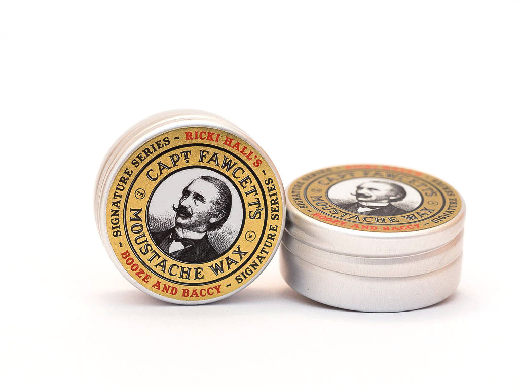 CAPTAIN FAWCETT: RICKY HALL BOOZE AND BACCY MOUSTACHE WAX, 15ML
