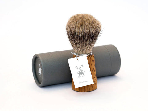 MUHLE: H23 SHAVING BRUSH, PINE WOOD