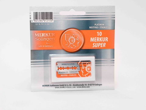 MERKUR SOLINGEN: DOUBLE EDGED SUPER PLATINUM BLADES (PACK OF 10)