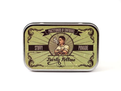 BURLY FELLOW: STIFFY LONG HOLD POMADE