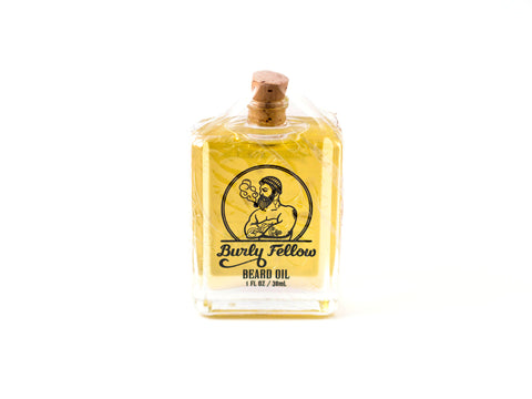 BURLY FELLOW: LIME AND MINT BEARD OIL, 30ML