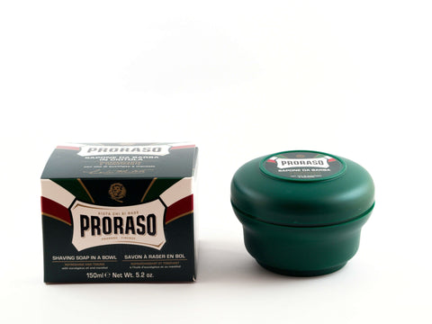 PRORASO: GREEN / EUCALYPTUS OIL AND MENTHOL SHAVING BOWL, 150ML