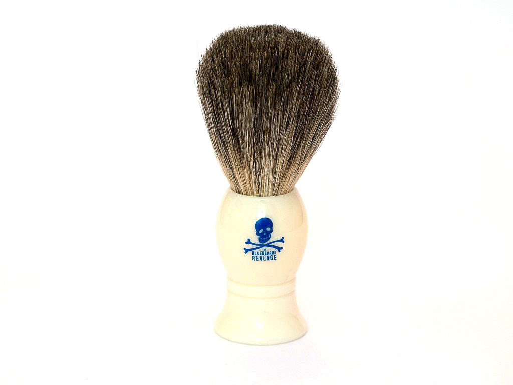 THE BLUEBEARDS REVENGE: BADGER SHAVING BRUSH WHITE