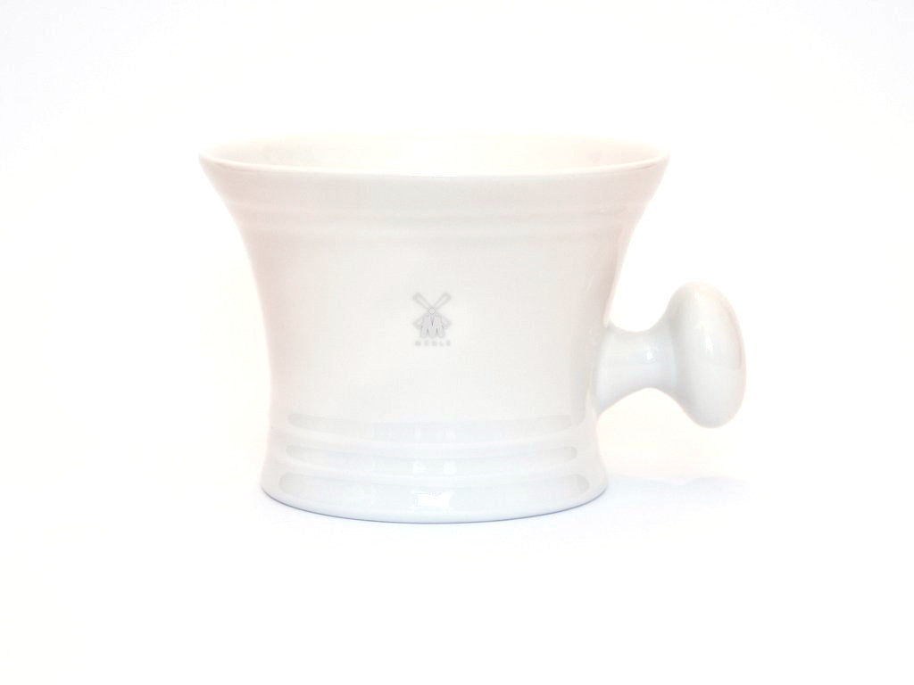 MUHLE: WHITE PORCELAIN SHAVING MUG