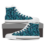 LIMITED EDITION - Men's High Top Canvas Sugar Skull Shoes