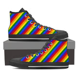 LIMITED EDITION - Women's High Top Canvas Rainbow Shoes