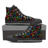Colorful Music Symbols High Tops