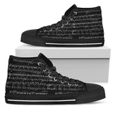 Inverted Sheet Music High Top Shoes
