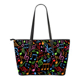 Music Eco Leather Tote Bags