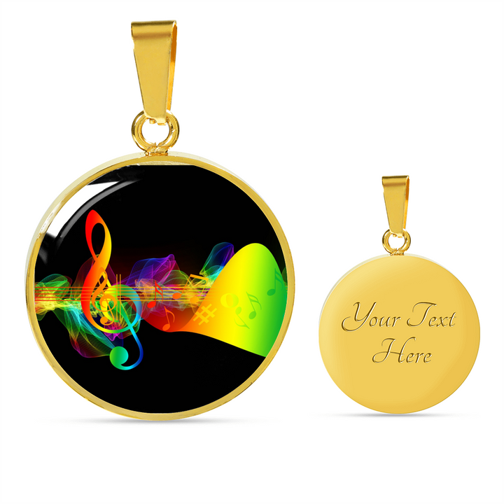Colorful Treble Clef Necklace