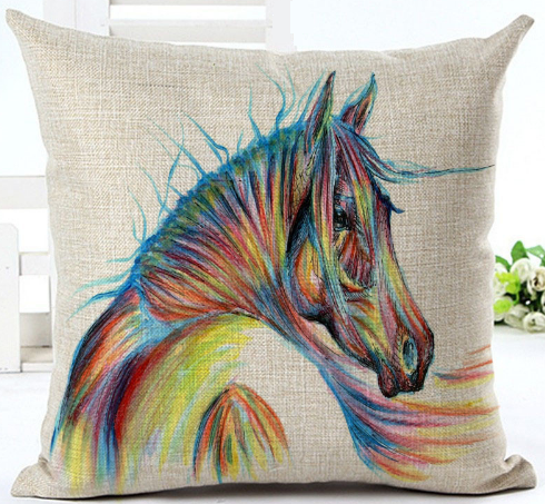 horse series decor pillow covers
