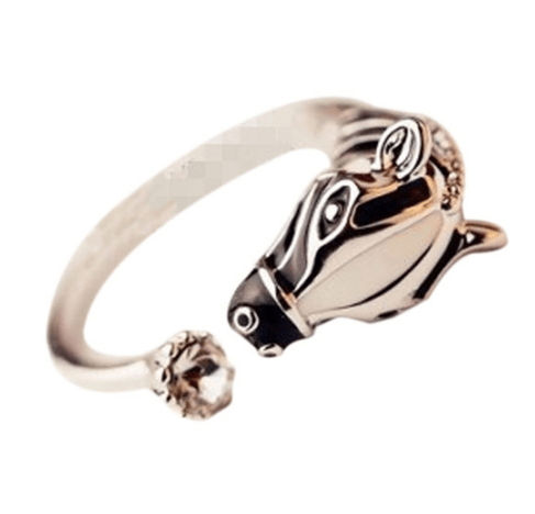 Adjustable Horse Ring - Silver & Gold