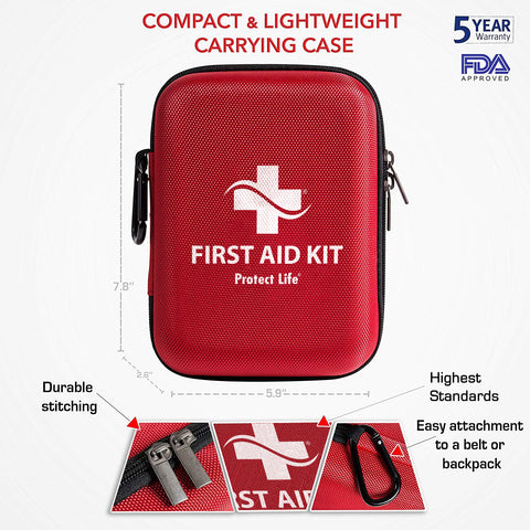 First Aid Kit Hard Case by Protect Life