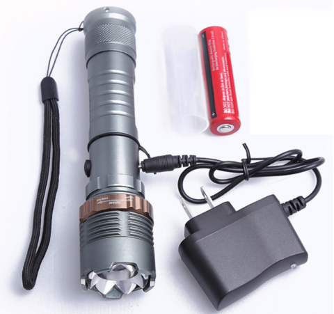 SELF DEFENSE ULTRA BRIGHT T6 FLASHLIGHT + BATTERY & CHARGER
