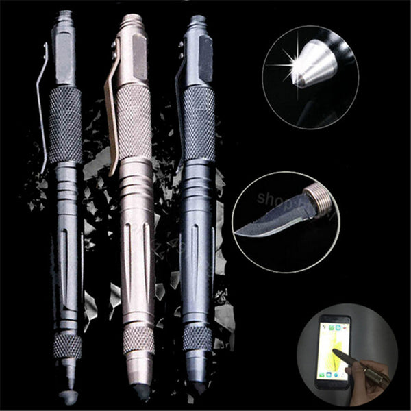 Self Defense Tactical Pen Multi Tool Tungsten Unisex Steel Glass Knife