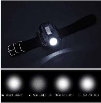 Rechargeable Tactical Survival Watch Portable CREE XPE R2 LED Wrist Watch