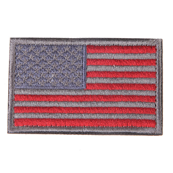 American Flag Embroidered Patch Patriotic USA Military tactics Patch Iron-On or Sew to Any Garment
