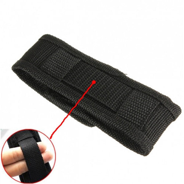 High quality 13cm Black Nylon Holster Holder Case Belt Pouch for LED Torch Flashlight for most 18650 flashlight