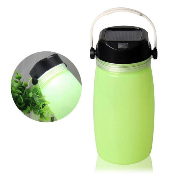 Waterproof Portable Lighting Silicone Rafting Bottle Solar USB LED Light Lamp Collapsible Foldable Outdoor Camping Lantern
