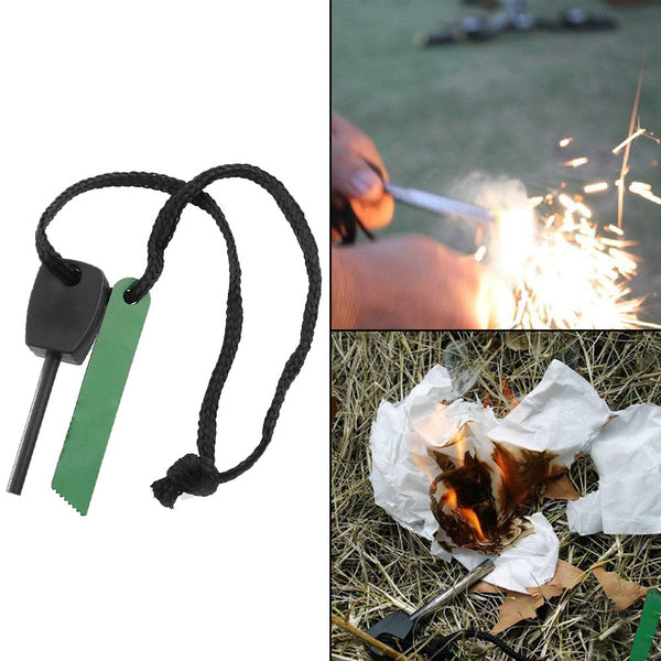 Black Efficient Popular Hot Survival Ferrocerium Fire Starter Magnesium Safety Applicable Sparks easily Ignite Durable
