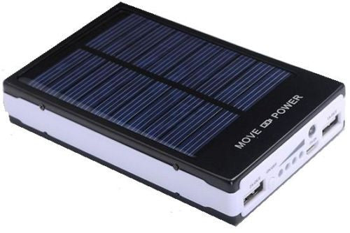 8000mAh Solar Power Bank Portable External Battery Charger Dual USB