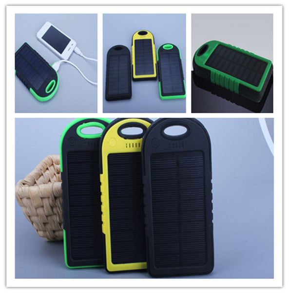 5000mah Solar Power Bank - Never be left without a charge! Perfect for hikes and camping
