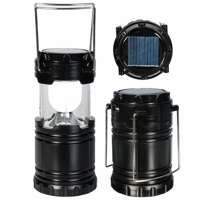 Solar Panel Rechargeable Batteries Pulling Camping Outdoor Lantern LIght For Hiking